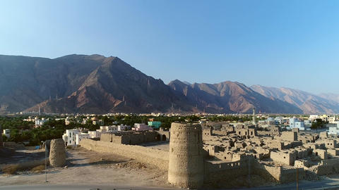 Nizwa Fort Castle. The Nizwa Fort is a massive castle in Nizwa, Oman. It is Footage