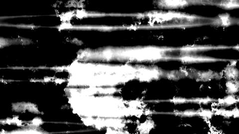 Black And White Noisy Abstract Waves Motion Background Animation
