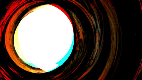 Rotating Colored Circles With White Center Abstract Background Animation