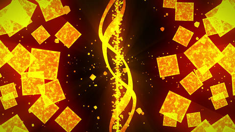 Gold and Black Glitter Background with Traditional Japanese Loop Patterns Animation