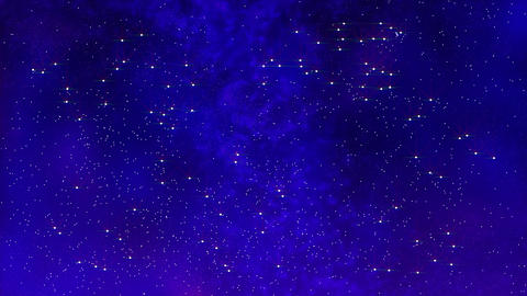 starry night background CG動画素材
