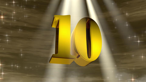 golden 10 countdown CG動画