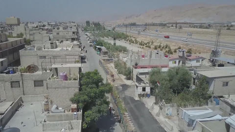 Syria, Eastern Guta. aerial photography on the streets of the city Live Action