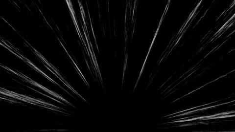 Loop Animation of Comic Speed Lines, Manga Frame Style, Black Background 애니메이션