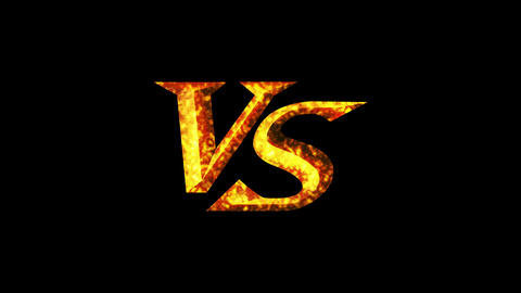Versus Fight Background, VS on Spark Fire, CG Animation, Loop Animation