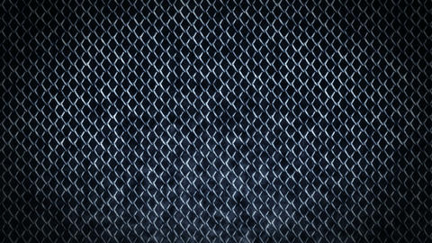 Metal Fence on a Dark Background, Wire Mesh CG Animation, Loop Animation