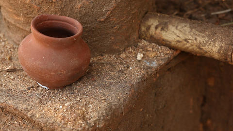 Pots in rural home Live Action