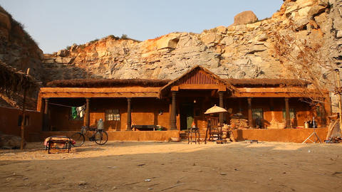 Rural house at Rajasthan India Footage