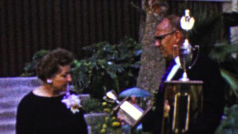 1961: Judges deciding trophy merits for special awards ceremony Footage
