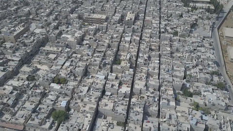 Syria, East Guta, panorama of the city (aerial photography) Footage