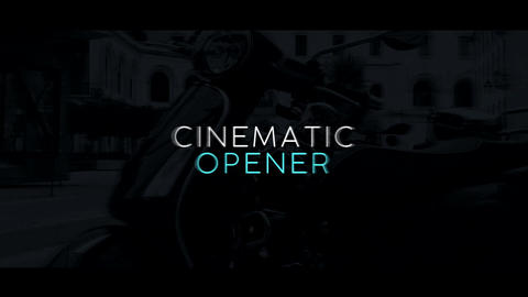 Cinematic Opener After Effectsテンプレート