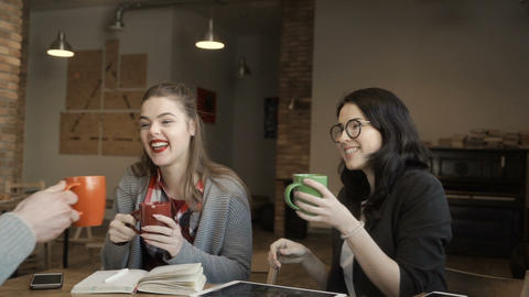 Students have a coffee break Footage