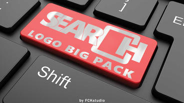 Search Logo BIG pack (12 version) Apple Motionテンプレート