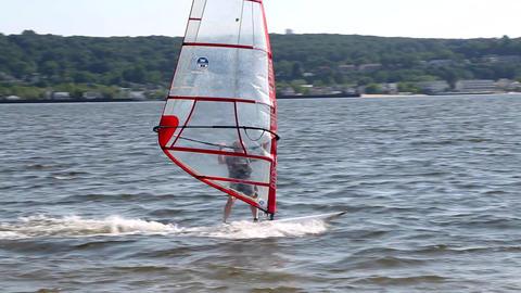 Windsurfer Rides into the Sun Footage