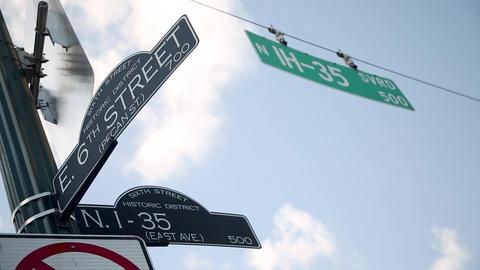 Austin, Texas Street Signs Footage