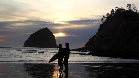 Oregon Surfer at Sunset Archivo