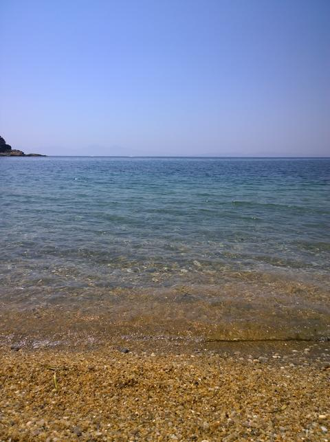 beautiful blue sea and sky Photo