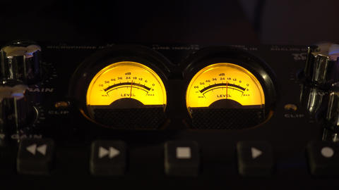 Audio Meters Music Studio Background Video Image