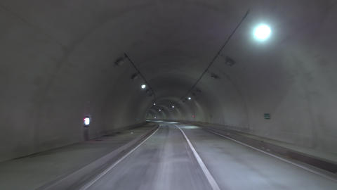 Driving - Scene in the tunnel Left curve 영상물