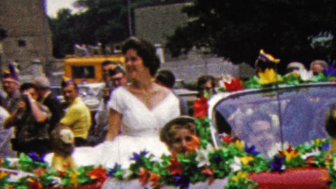 1960: Miss Minnesota Jean Elverum beauty queen car parade Live Action