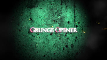 Grunge Opener After Effectsテンプレート