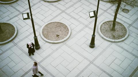 A Beggar On The Street In Saint-Petersburg stock footage