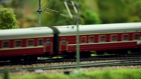 passenger train passing by Footage