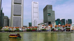 View of Boat Quay,Singapore Footage
