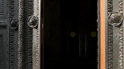 ancient door closes Footage