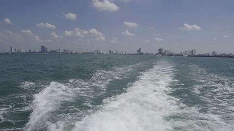 view at the sea from the yacht Footage