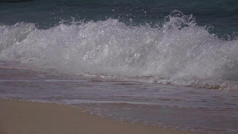 Slow Motion Tropical Blue Ocean Wave Breaking Stock Video Footage