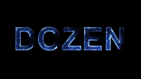 Blue lights form luminous text DOZEN. Appear, then…, Stock Animation