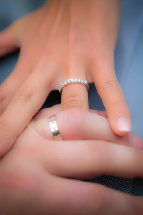Close up of wedding rings Photo