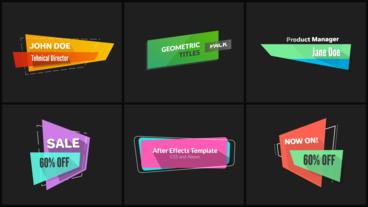 Geometric Titles & Lower Thirds After Effects Template