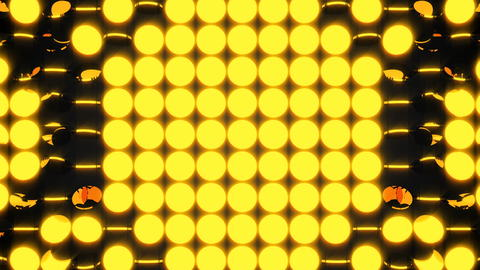 Abstract background with rows of many yellow turning coins, 3d render backdrop フォト