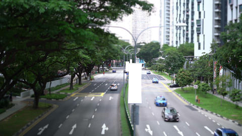 Cars on road in the city Footage