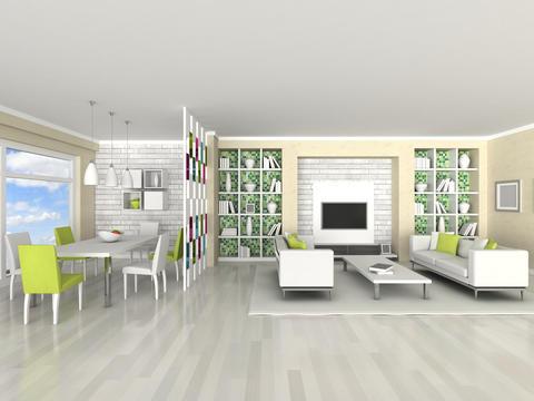 Interior of the modern room, living room, dining room Fotografía