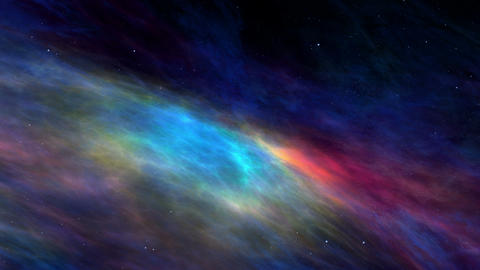 Nebula, Stars and Space Clouds, Flying through the Cosmos Animation