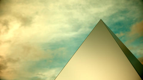 White pyramid reveals a gold interior Footage
