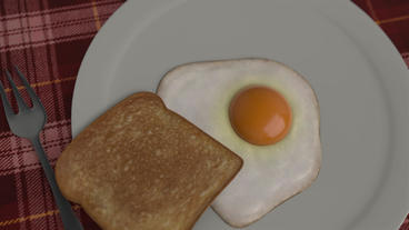 Breakfast - Eggs and Ketchup Logo Stinger Plantilla de After Effects