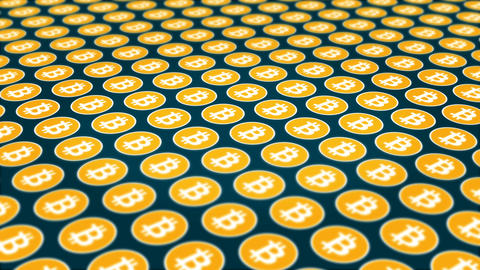 Bitcoin cryptocurrency traffic coins background Animation