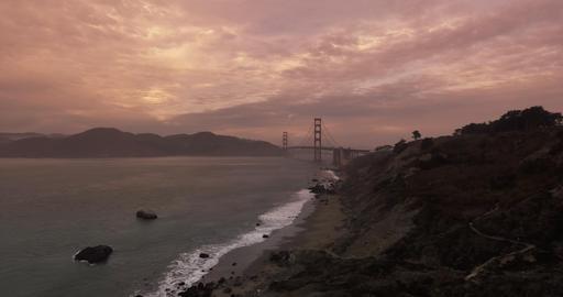 Establishing shot of the Golden Gate Bridge Footage