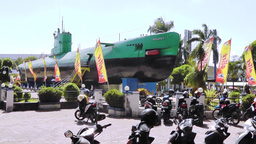 Submarine Museum, Surabaya, East Java, Indonesia Footage