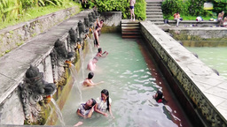 Hot Spring Air Panas Banjar,Bali stock footage