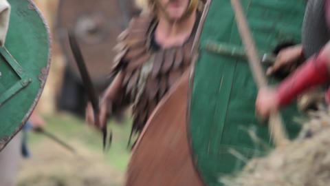 Military confrontation between two ancient armies 1 Footage