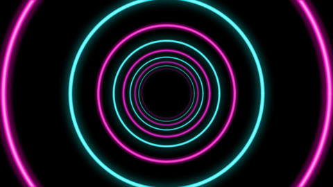 Abstract Round Shaped Colorful Tunnel Animation