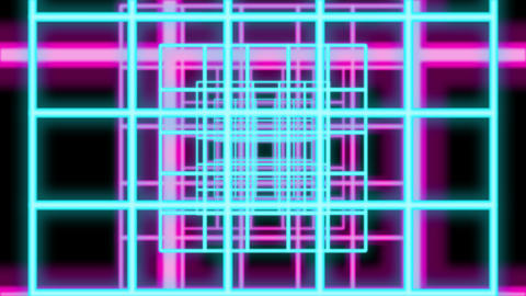 Abstract Multicolored Grate Shaped Tube Animation