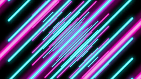 Abstract Colorful Slanted Lines Tunnel Animation