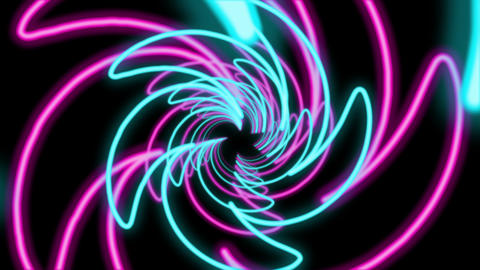Abstract Colorful Spiral Shaped Tunnel Animation