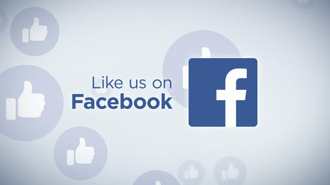 Like Us on Facebook Loop Animación